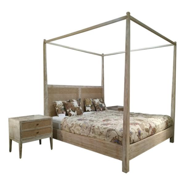 Cane Back Poster Bed