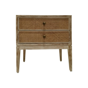 Cane Back Poster Bed Side Table