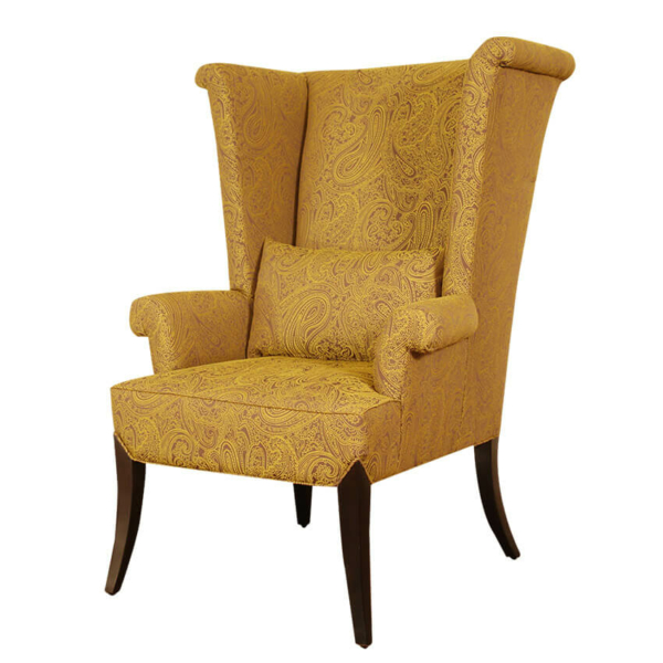 High Wing Lounge Chair With Arms