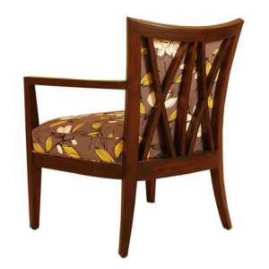 Cross Back Upholstered Lounge Chair