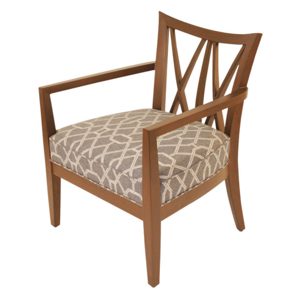 Cross Back Lounge Chair