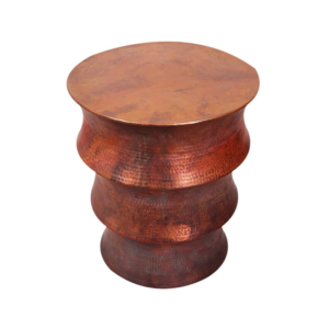 Copper Drum Side Table
